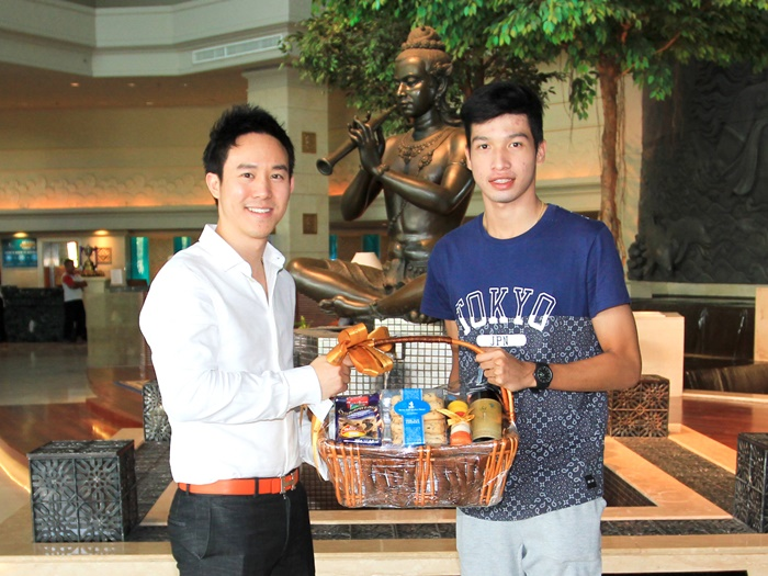 welcomed Mr. Tanaboon Kesarat, Thailand's national team football star