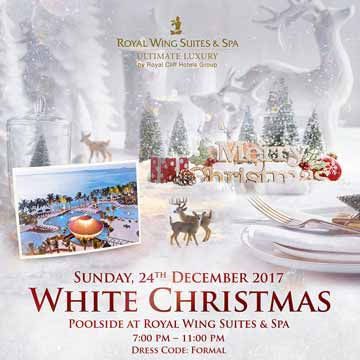 White Christmas Poolside at Royal Wing suite and Spa 2017