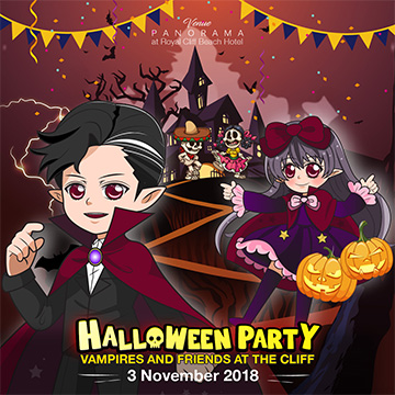 (English) Join the Best Halloween Family Party of the Year at Royal Cliff, Pattaya on 3 November 2018!
